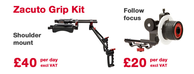Zacuto Recoil shoulder mount & Z-Focus follow focus